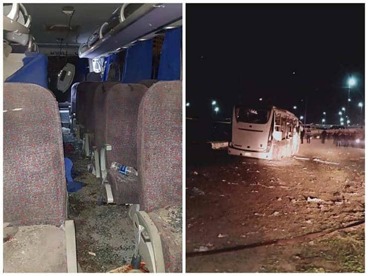 بيان الداخلية بخصوص حادث استهداف الحافلة السياحية بالمريوطية