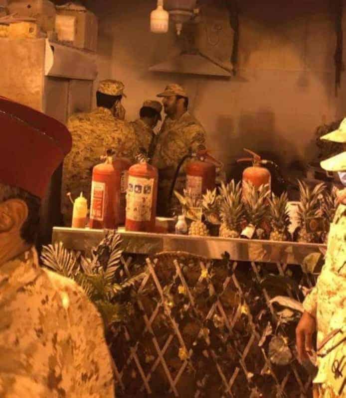 حريق بجناح المدينة المنورة بمهرجان الجنادرية