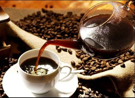 السكلانس خليط من الشاي على القهوة