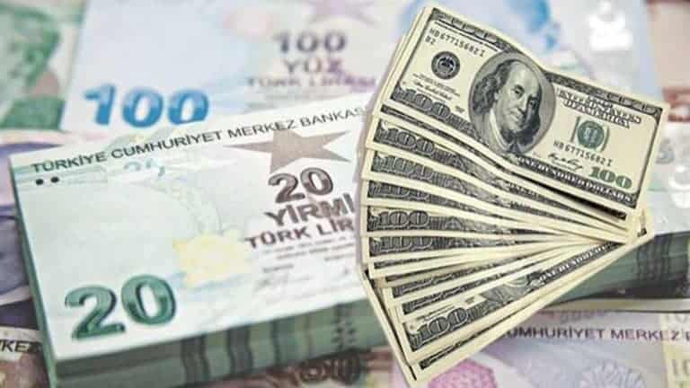 تراجع الليرة التركية أمام الدولار الأمريكي