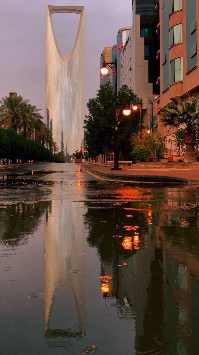 غرق شوارع الرياض